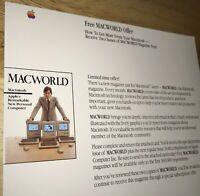 EARLY 1984 STEVE JOBS Macintosh 128K 1st Mac M0001 MACWORLD Offer UNUSED! RARE!