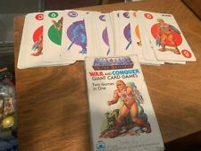 1983 Masters of the Universe War & Conquer Giant Card Game Complete! MOTU
