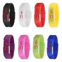 Herren Damen Kinderuhr Sport Uhren Uhr Digital LED Silikon Mode Armbanduhr NEU