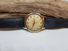 USED VINTAGE ETERNA-MATIC 18K GOLD BEZEL HONEY COME DIAL AUTO MAN'S WATCH