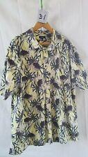 Vintage Men's Hawaiian Shirt Croft & Barrow Xxl 100% Cotton Pineapple Trees