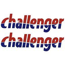 2 x challenger 65cm x 19,2cm autocollant sticker camping car caravane caravan