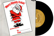 "SANITY CLAUSE - MERRY BLOODY XMAS (COMEDY) - RARE 7"" 45 RECORD PIC SLV 1981"