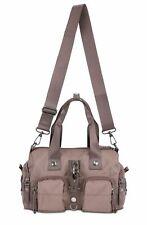 GEORGE GINA & LUCY Nylon Zoomy Handtasche Tasche Mud Braun