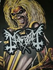 Mayhem Shape Patch Gestickt Black Metal Darkthrone Battle Jacket