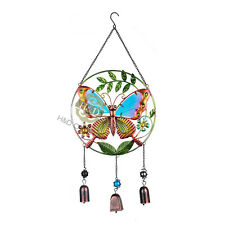 New Large Butterfly Love with 3 Bells Wind Chime Garden Decors Gifts Windchimes