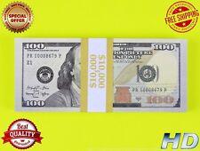 PROP MONEY 100 x 100s New Blue Style - Play Money Fake Prop Bills Movie Money
