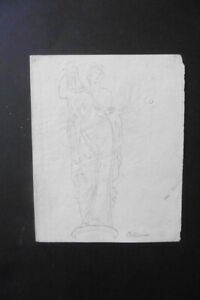 FRENCH SCHOOL 18thC - STUDY CLASSICAL FIGURE - CHARCOAL DRAWING