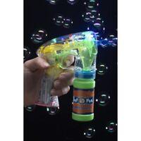 Girl's Boys Kids Fancy Dress Birthday Party Bubble Gun Light Up & Batteries Fun