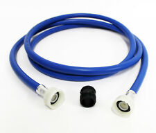 Universal Washing Machine Hose Extension Kit 2.5m blue inlet pipe & connector
