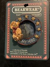 Boyds Bear Patriotic Pin, Billy Bearyproud, My Hero, Holds Photo-Missing Plastic