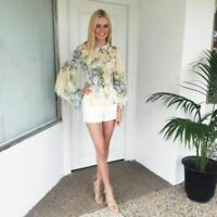 """ALICE MCCALL """"love on top"""" gorgeous floral print blouse shirt top 8"""