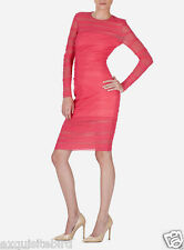 NEW VERSACE RASPBERRY PINK TULLE BODYCON DRESS 38 - 2