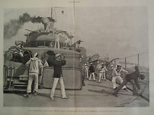 Naval Manoeuvers On The North Atlantic Flag Ship United States Navy1896 Harper's