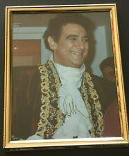 ORIGINAL Autograph: famous opera star PLACIDO DOMINGO, on framed photo (undated)