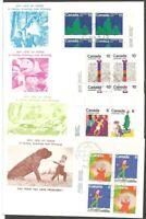 CANADA FDCS.1975 CHRISTMAS STAMPS CANADA SC #674-679 C BLOCK.CHILDREN DESIGNS