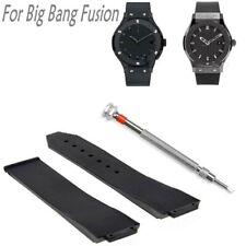 25MM Rubber Strap Watch Band FOR HUBLOTS H BIG BANG FUSION BLACK + Screwdriver