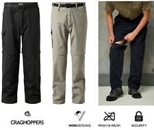 Craghoppers Mens Kiwi Zip Off Convertible Trousers Short Lightweight NosiDefence
