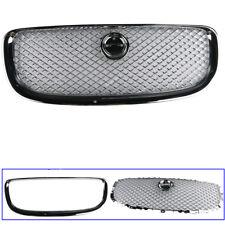 For Jaguar XJ 11-15  Chrome Front Radiator Grille Cover + Trim  C2D3555 C2D3554