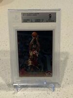 2003 TOPPS CHROME LEBRON JAMES ROOKIE CARD RC #111 BGS 9 MINT .5 AWAY FROM GEM!