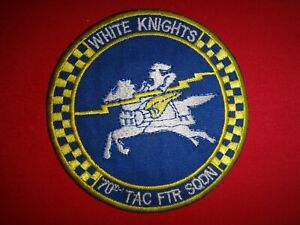 USAF 70th TACTICAL FIGHTER Squadron WHITE KNIGHTS Patch (Circa 1970s)