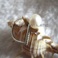 9.5-10.0mm White Freshwater Pearl Ring R11H N 1/2 UE