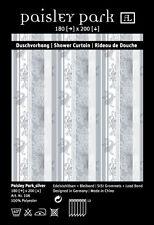"Designer Textil Duschvorhang ""Paisley Park-silver""   TOP! Die letzten 2 Stück !!"