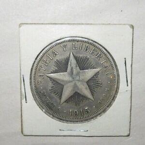 1915 Un Peso Libertad 1st Issue 90% Silver Coin Star Dollar