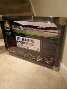 West Ham Farewell BOLEYN ground framed pic signed by 11 legends Hurst AFTAL COA