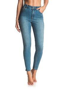 Roxy Night Spirit Medium Blue Skinny Jeans Sz 27 ERJDP03152