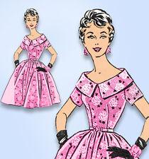 1950s Vintage Mail Order Sewing Pattern 8367 Misses Rockabilly Dress Size 31.5 B