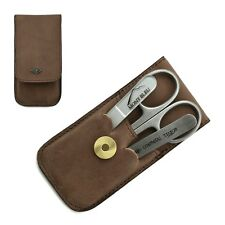 Giesen & Forsthoff Timor 3-piece Manicure Set in Natural Oiled Leather Case