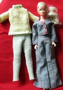 Vintage UNEEDA Platinum ponytail WENDY DOLL Barbie Clone Hong Kong clothes