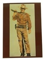 postcard illustrated john wayne celebrity nancy ely elite rifle western 5x7 in