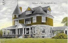 Residence of Wm Kiel [Bancroft Health Resort], Butler NJ vintage used 1909