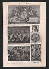 LIthografie 1925: Byzantinische Kunst. Konstantinopel Vatikan