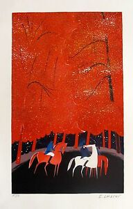 """SERGE LASSUS """"THE FOUR SEASONS - SUMMER"""" Hand Signed Limited Edition Serigraph"""
