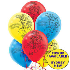 PAW PATROL BIRTHDAY PARTY SUPPLIES 6 LATEX BALLOONS HELIUM QUALITY DECORATIONS