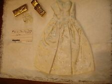 Party Date #958 BARBIE Doll VINTAGE Fashion 1963 Dress with Belt Purse Shoes