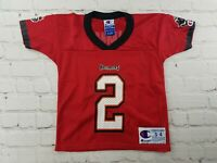 VTG 90s Tampa Bay BUCCANEERS NFL Chris Simms Champion Football Jersey Toddler 4T