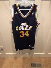 Utah Jazz #34 Cj Miles Navy Sewn Nba Swingman Basketball Jersey Adidas Men L