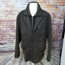 MILESTONE BROWN WAXED LAMBSKIN 2 BUTTON LEATHER JACKET SIZE XL SHKAF