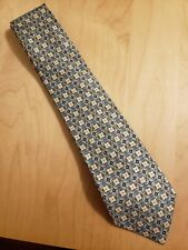 HERMES TIE 7769 FA Fancy Check Geometric Classic Silk Necktie