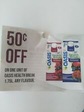 A***$ave .50 off on Any Oasis Health Break****