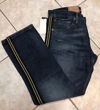 Polo Ralph Lauren Mens Jeans 33 32 Yale Varick Slim Straight Denim NWT