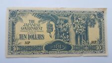 The Japanese Government  10 Ten Dollars   old 1942-1944