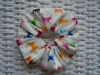 CATS SCRUNCHY CAT SCRUNCHIES HAIR TIE BAND BANDS TIES COTTON NEW GIFT IDEA PET