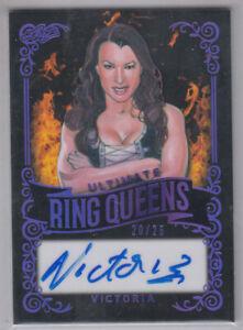 VICTORIA 2020 Leaf Ultimate Wrestling Ring Queens Purple #RQ-VI1 Autograph 20/25