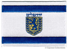 JERUSALEM FLAG embroidered iron-on PATCH ISRAEL CITY emblem ISRAELI applique NEW