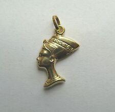 9ct Gold Small Queen Nefertiti Pendant 0.6g